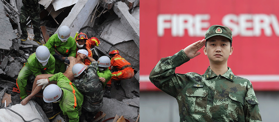 Rescued as a 20-year-old during 2008 earthquake, Jiang Yuhang later became a firefighter, Guizhou [China Daily]